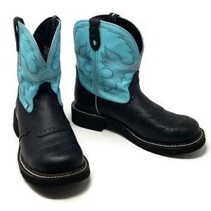 Gemma Light Blue Justin Gypsy Western Boot 11